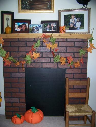 Fall-fireplace